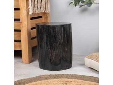 pouf bois pétrifié 40 cm