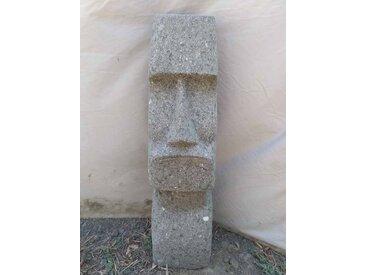 Statue en pierre volcanique île de pâques moaï 60 cm