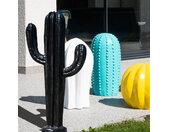Sculpture contemporaine cactus noir 100 cm