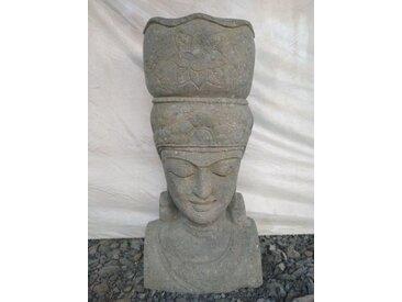 Statue déesse balinaise en pierre deco zen 80 cm