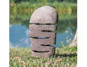 Lampe de jardin en pierre de rivière 50