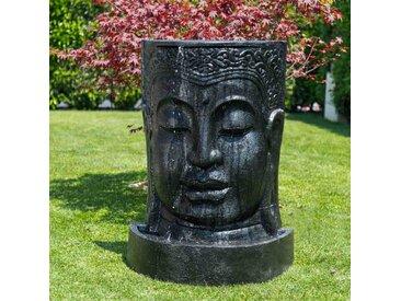 Fontaine de jardin mur d'eau visage de Bouddha 1 m 20 noir