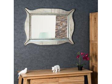 Miroir Moderne en bois patiné argent 70 x 100cm