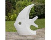 Sculpture design grand poisson blanc 100 cm