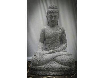 Statue de Bouddha offrande en pierre jardin zen 100cm