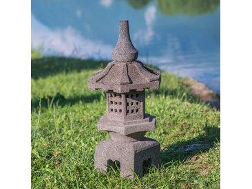 lanterne japonaise toro en pierre de lave 55cm