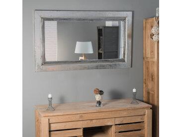 Miroir Venise en bois patiné argenté 140cm X 80cm