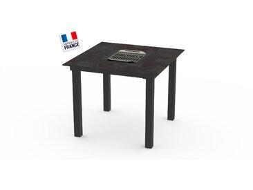 La Garrigue - table classique - table multifonctions : barbecue, vasque à champagne, plateau de présentation, couvercle - 4 places max