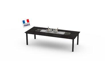 La Garrigue - table classique - table multifonctions : barbecue, vasque à champagne, plateau de présentation, couvercle - 12 places max