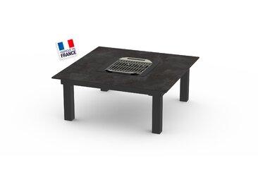 La Garrigue - table basse - table multifonctions : barbecue, vasque à champagne, plateau de présentation, couvercle - 4 places max