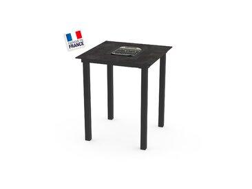 La Garrigue - table haute - table multifonctions : barbecue, vasque à champagne, plateau de présentation, couvercle - 4 places max