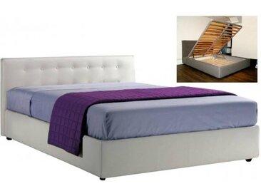 Lit coffre SEYUN haut de gamme avec tête de lit, couchage 160*200 cm