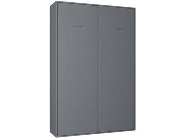Armoire lit escamotable SMART-V2 gris graphite mat couchage 140*200 cm.