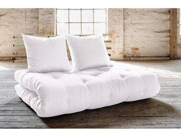 Canapé lit futon SOLVEIG naturel et pin massif couchage 140*200 cm.