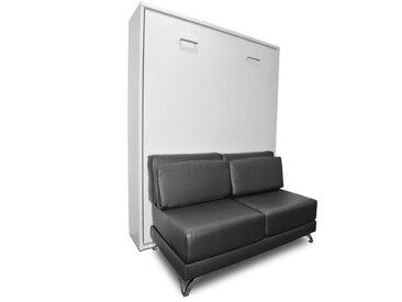 Armoire lit escamotable TOWN canapé gris graphite intégré couchage 140 * 200cm