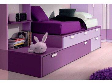 lit gigogne compact IBERIS avec 4 tiroirs et 2 couchages 90 x 190