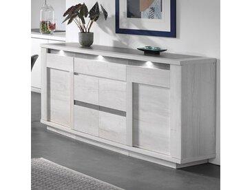 Buffet moderne couleur chêne blanc et gris CHILDERIC