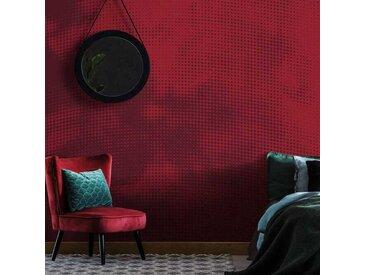 Tapisserie rouge panoramique Nubulim