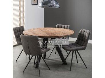 Table à manger ronde en bois massif SAVANA 2