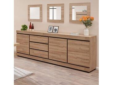 Enfilade 250 cm contemporaine couleur bois clair MARLON