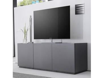 Banc TV design gris mat 3 portes VALERONA