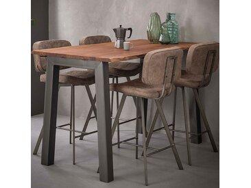Table haute en bois et métal moderne CHICAGO