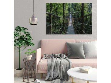 Radiateur tableau deco Pont et forêt 100x70