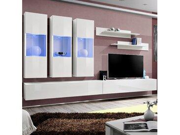 Meuble TV mural suspendu blanc ARDARA