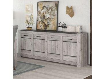 Enfilade 220 cm moderne couleur chêne gris CAMELIA