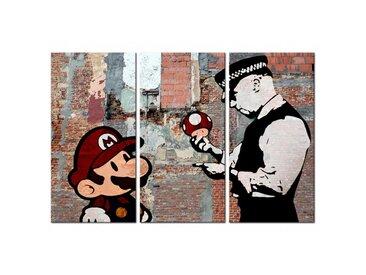 Tableau Banksy Warning triptyque