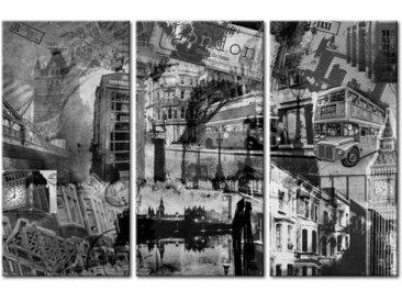 Peinture sur toile Londres triptyque