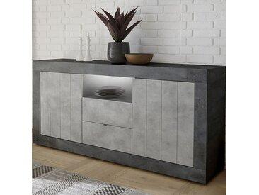 Buffet moderne 180 cm effet béton gris URBAN 8