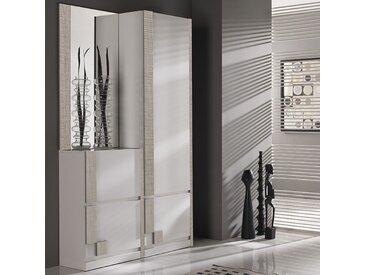 Vestiaire d'entrée blanc et couleur bois clair moderne RIMAC 2