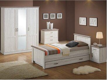 Chambre ado couleur chêne clair et marron ELAURA