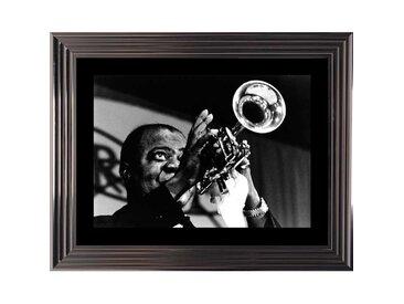 Tableau portrait Louis Armstrong noir et blanc 74x94