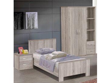 Chambre pour enfant couleur chêne gris ELIJAH