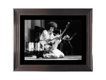 Tableau Jimi Hendrix noir et blanc encadré 74x94
