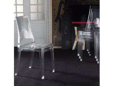 Chaise transparente empilable design TALINA (lot de 4)