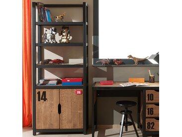Bibliothèque de chambre enfant en bois industrielle BRONX