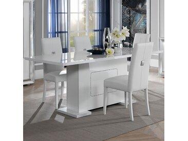 Table 160 cm blanche laqué design NEVAHE
