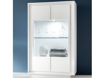 Vaisselier blanc laqué mat design ERINE 5