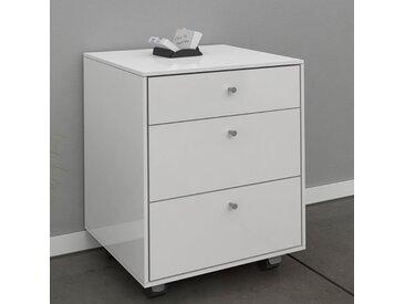 Caisson de bureau adulte couleur blanc laqué