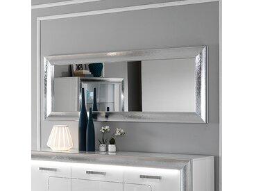 Miroir mural gris à strass design NEVAHE