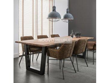 Table salle à manger en bois massif GRETNA