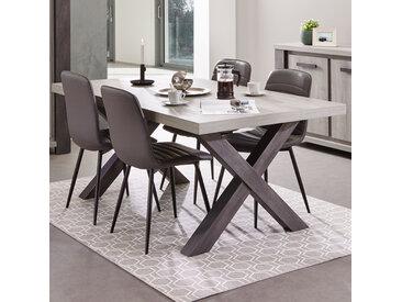 Table 185 cm contemporaine couleur bois gris MATHEIS