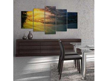 Grand tableau paysage naturel Crepuscule