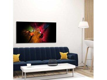 Radiateur tableau deco tropical Perroquets 120x60