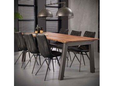 Table 210 cm en bois massif et acier PENNY