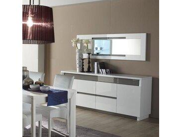 Buffet blanc et gris laqué design LIAM
