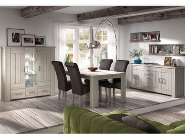 Salle à manger complète contemporaine couleur bois clair PAULINE